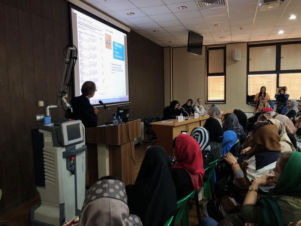 سخنرانی پروفسور موسیمو اوریگونی در مورد لیزر مونالیزا