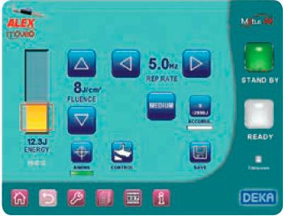 تنظیمات دستگاه لیزر الکس